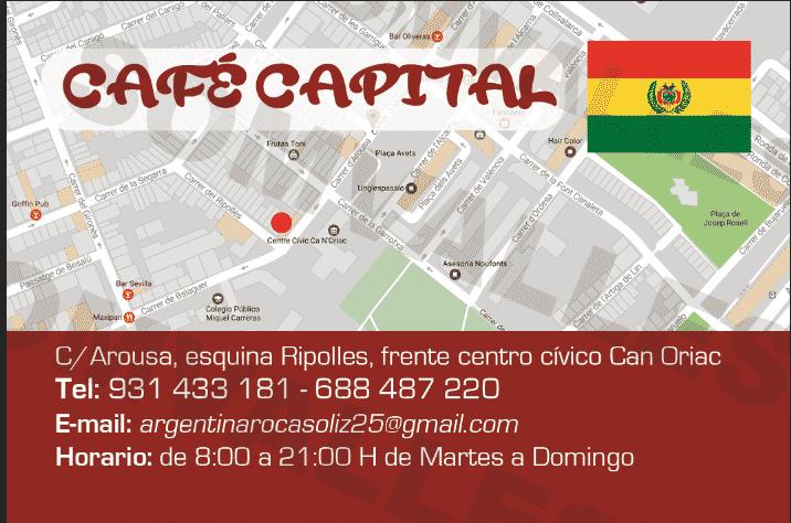 Cafe Capital   Cafe Bar Capital Sabadell   Comida Boliviana Sabadell, boliviano en sabadell