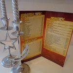 Publicidad para empresas, Carta menú Hostelería