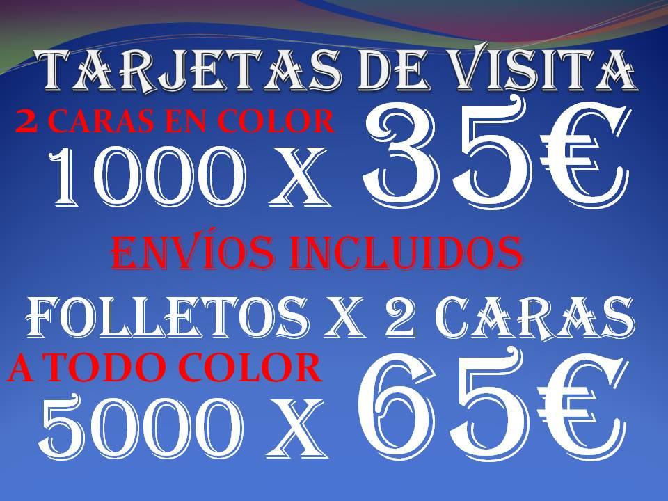 Tarjetas de Visita baratas, flyers baratos Barcelona