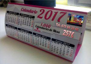 Calendario de mesa, calendario de bolsillo