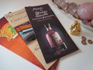 cartas de menú, cartas de vino, cartas hostelería
