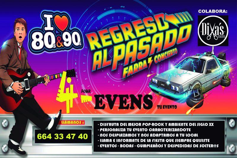 4evens-regreso al pasado-musica de los 80 y 90