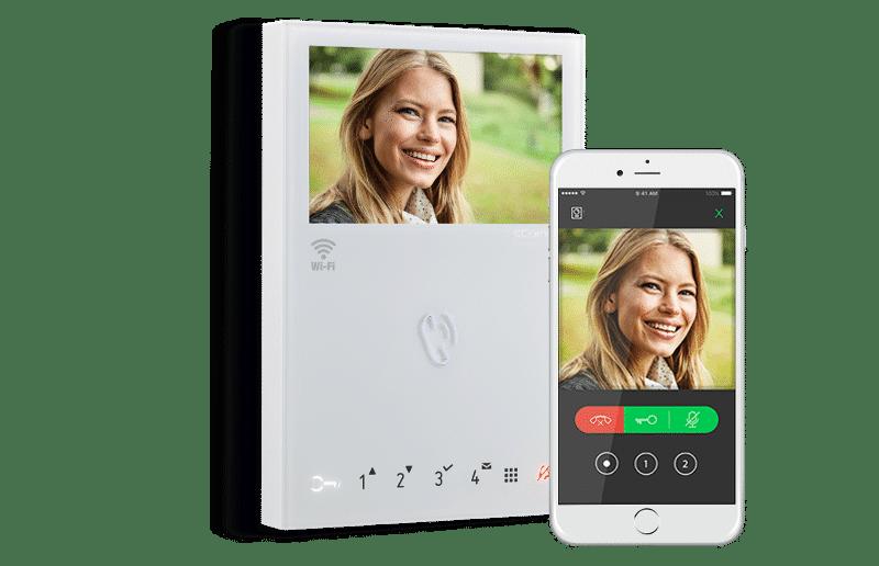 Monitor Videoportero Wifi de Comelit con reconocimiento facial